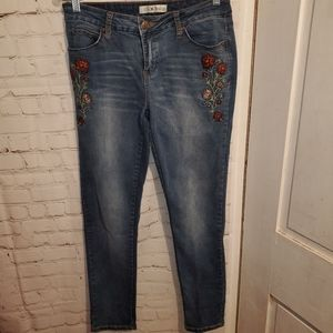 Love Indigo Embroidered Jeans